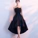 フィッシュテール ドレス スパンコール 刺繍 膝丈 編み上げ リボン 結婚式 パーティー お呼ばれ エレガント(F025)