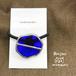 ステンドグラスのヘアゴム 透明な青