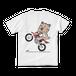 <白Tシャツ 背面>バイクみーちゃん