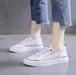 レディース スニーカー シースルー 透け ローカット フラワー刺繍 レースアップ フラット 厚底 歩きやすい 痛くない 通勤 通学 学生 韓国