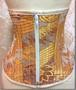世界に一つだけの着物帯で作られた豪華ゴージャス着物コルセット・ファスナータイプゴールド金糸舞鶴XSサイズkimono corset no5gold