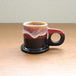 "Echo Park Pottery ""Espresso Mug"" Red×Black"