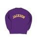 COLLEGE LOGO J CREW SWEAT M381105- PURPLE / クルー スウェット シャツ MARATHON JACKSON マラソン ジャクソン