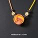 ロープワークアクセサリー ネックレス 01-オレンジmix