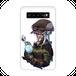 #018-004 クール系 モバイルバッテリー《Secret plan》 カラーホワイト iphone スマホ 充電器 作:フライ・フローライト(共作)