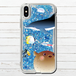 #000-018 iPhoneケース 人気 女子 韓国風 グリッターケース セール iPhoneXS/X かわいい 海 イルカ 熱帯魚 おしゃれ iPhone6/6s/7/8 グリッタースマホケース (iPhoneシリーズのみ対応・iPhonePlus非対応) タイトル:煌めく海の中で