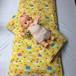 【出産祝いCoLoシート】コロシート、ねっコロシートセット 黄色