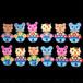 誕生表の動物セット(黒数字)の壁面装飾