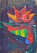 聖なる花弁(アクリル絵画)
