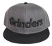 GRINDERS logo snap back CAP (chacole x black)