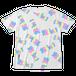 全面プリントTシャツ「128kcalロゴパステル」