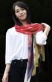 和柄スカーフ「紅葉にヤマドリ」