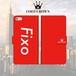 FOOT CROWN 限定 手帳型 スマホケース フットサル レッド [フィクソ] [Fixo] iphone全機種対応