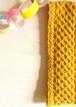ヘアバンド Honeycomb (針なし) 【編み物キット】