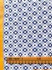 【NEW】Block print ブルーの幾何学模様 / しっかり地