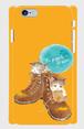 選べるカラー《小さな一歩》*iphone・Android側表面印刷スマホケース