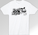 ROCK BEAT Tシャツ【WHITE×BLACK】