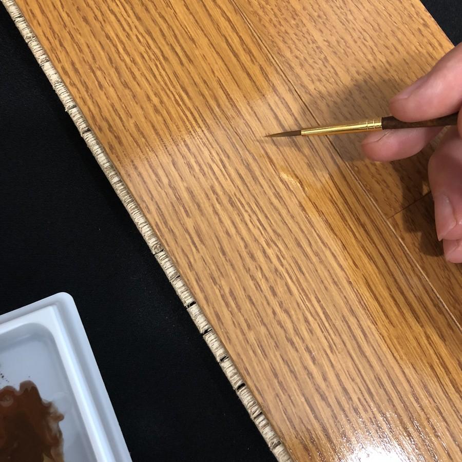 傷の部分に塗って直します!