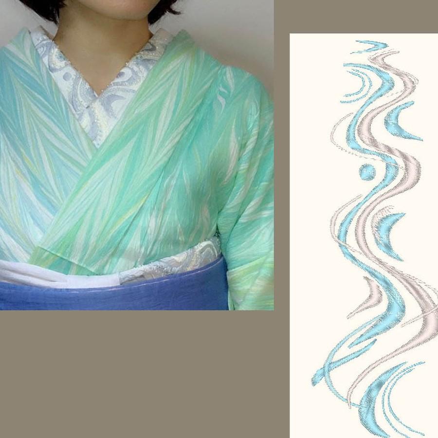 清流の刺繍×新之助上布綿麻白布