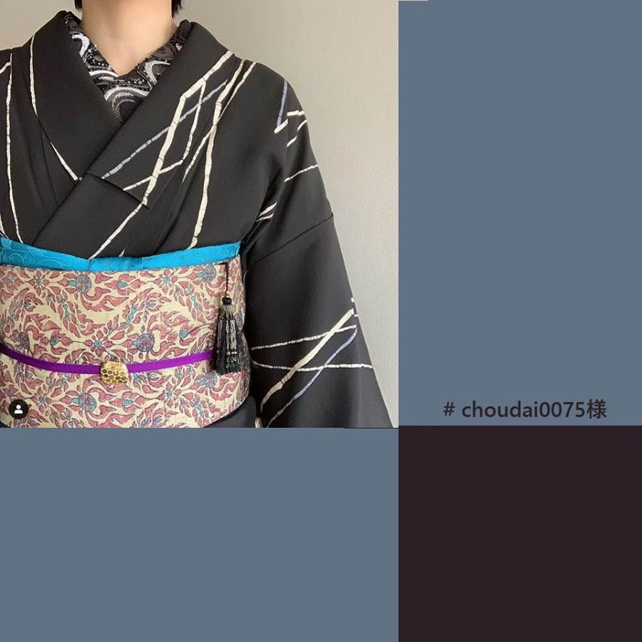 清流の刺繍とビーズが印象的なコーデを作ります。