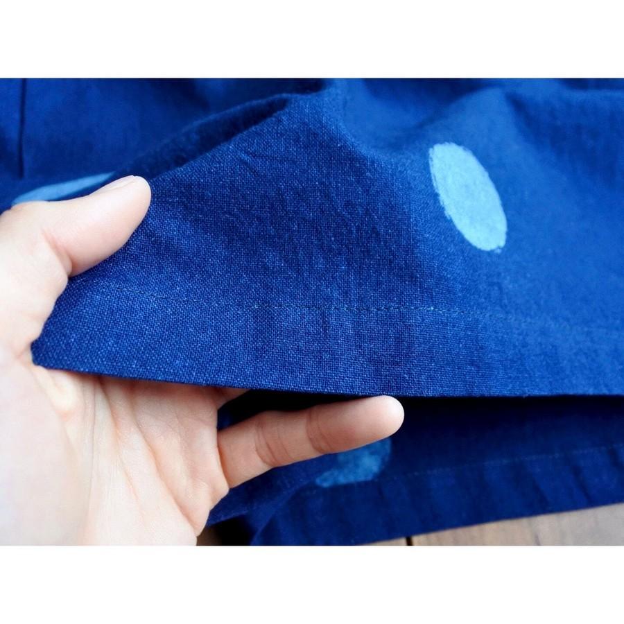 生地は柔らかく、肌触りの良い綿素材。