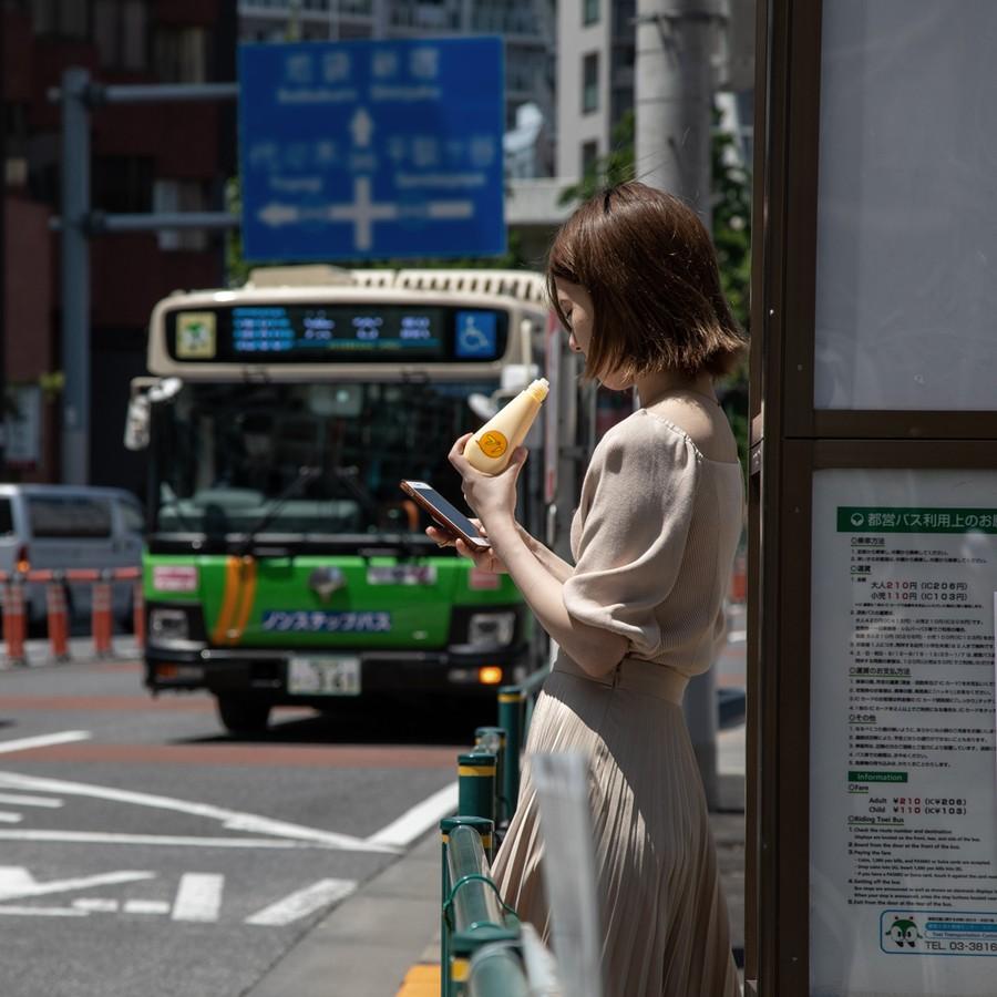 バス待ちプリン。
