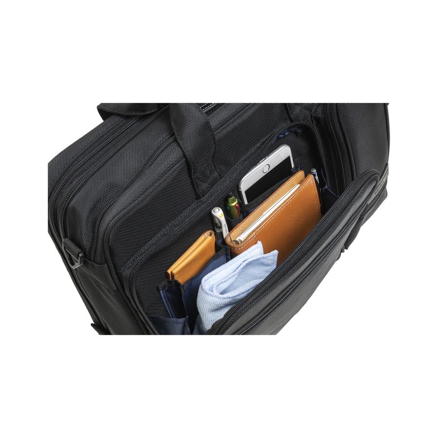 小物収納に便利なフロントポケット付き(名刺入れ、スマホ、ペン、カード入れ)