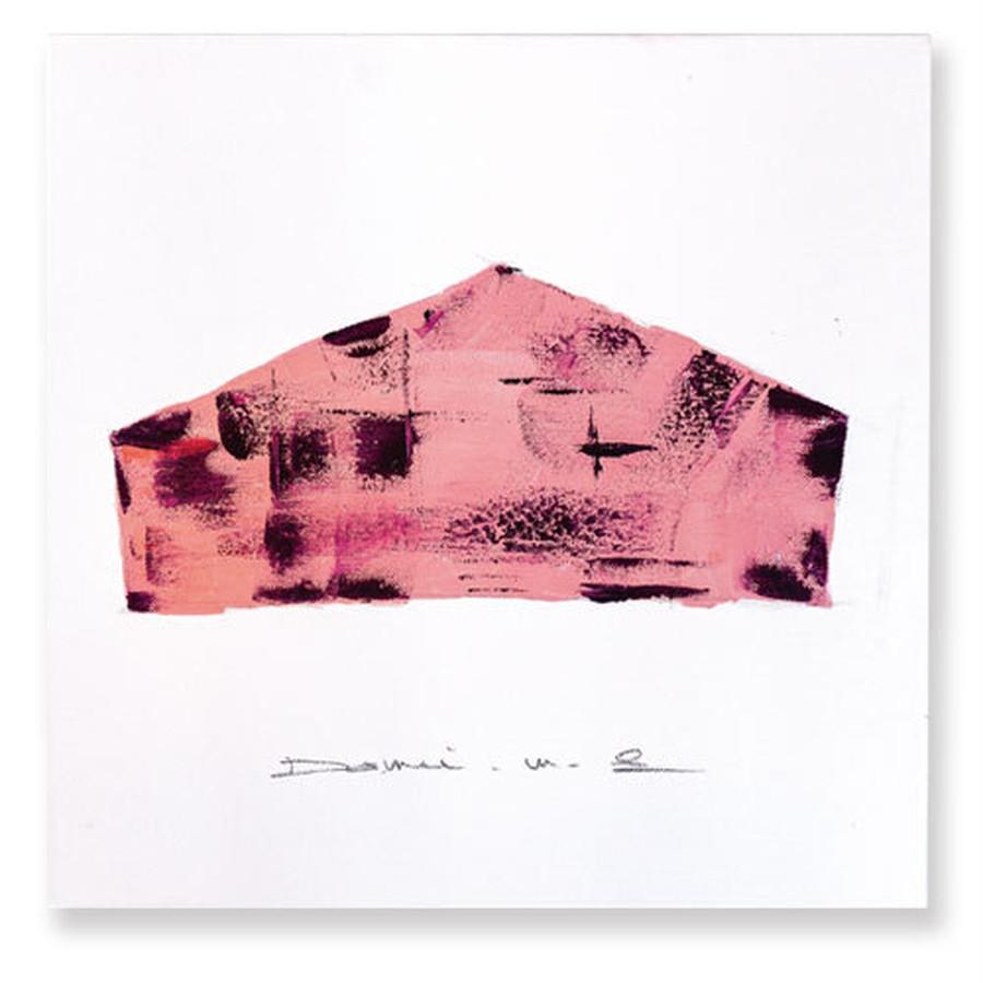 pink(ピンク): 色づいた木々や果物を思わせる、 実りある秋の色に染まる家。