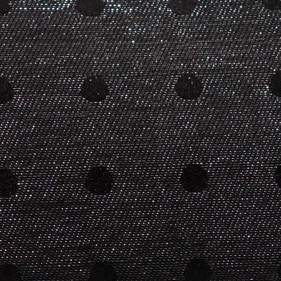 経糸(黒経)でさりげなくドットを表現