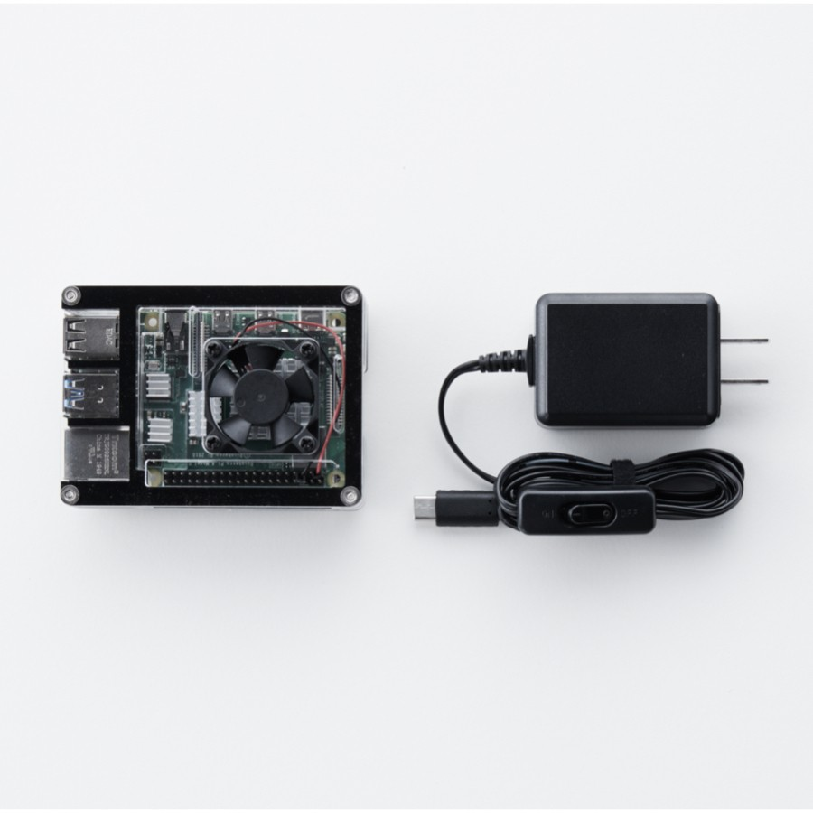 Raspberry Pi + 電源アダプター(microSDカード単体では使用不可)