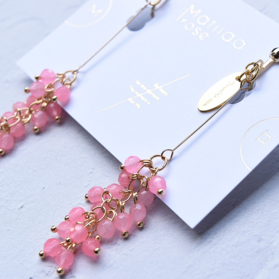 milky pink beads