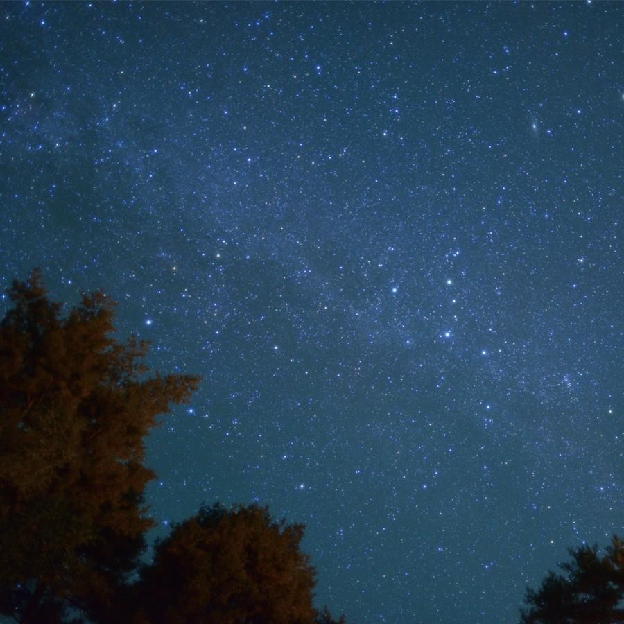 空気が澄んでいる南会津は、星空がとてもきれい。