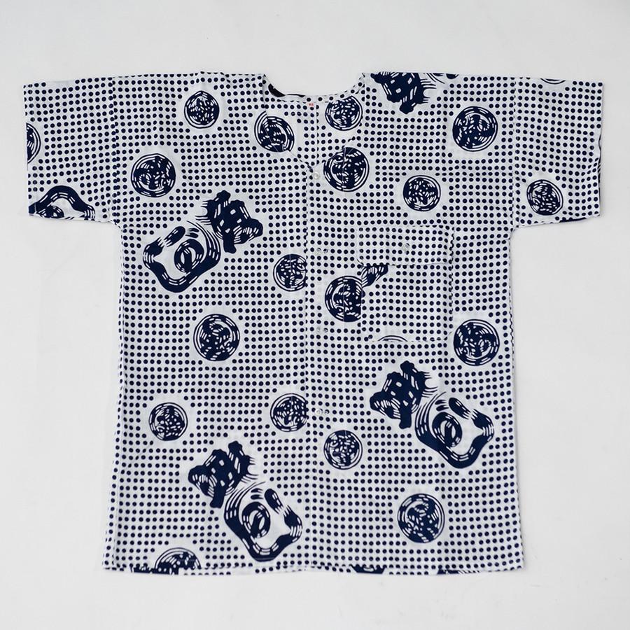 豆絞り(紺)