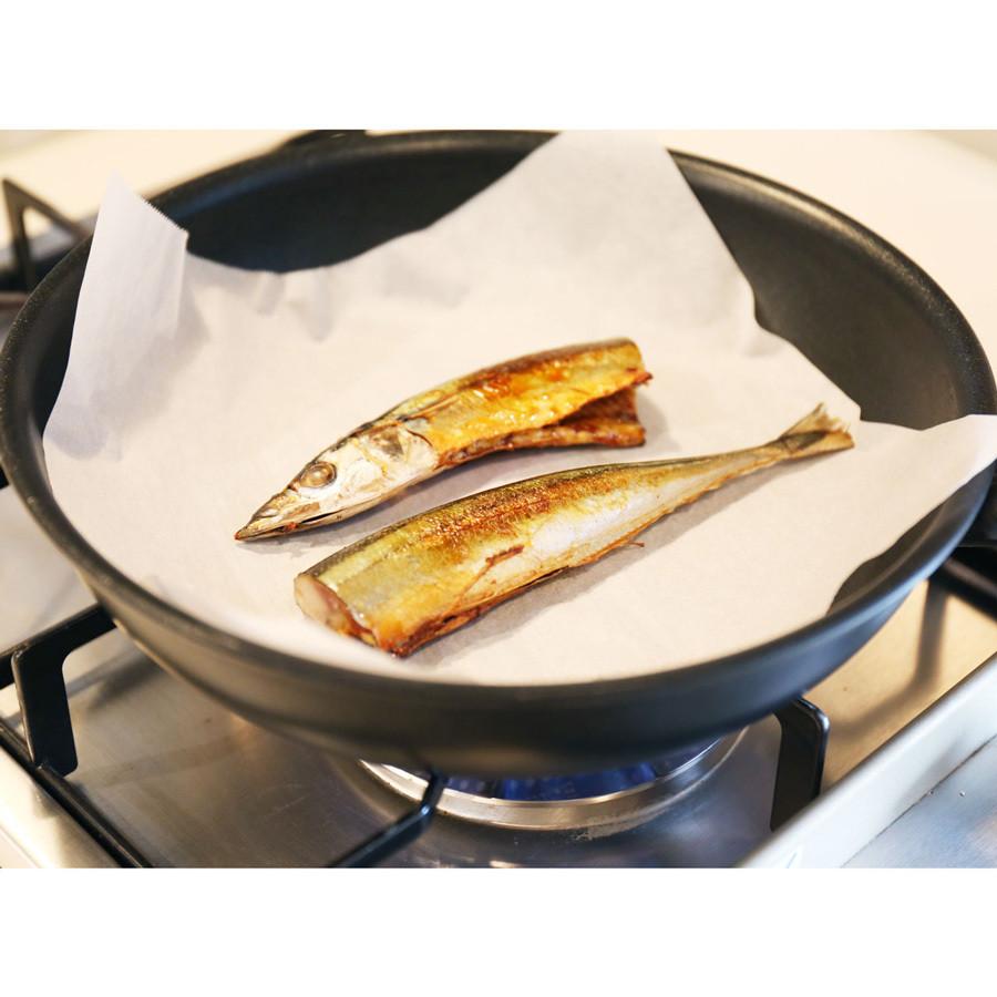フライパンで焼いても煙が少ないので、マンションの方でも安心。